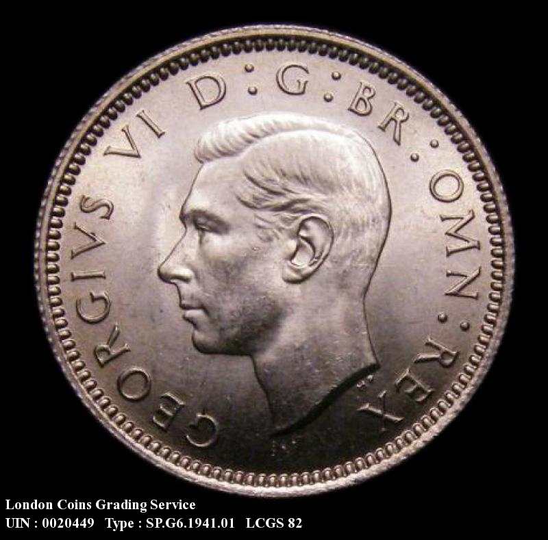 Sixpence 1941 George VI. Standard type - Obverse
