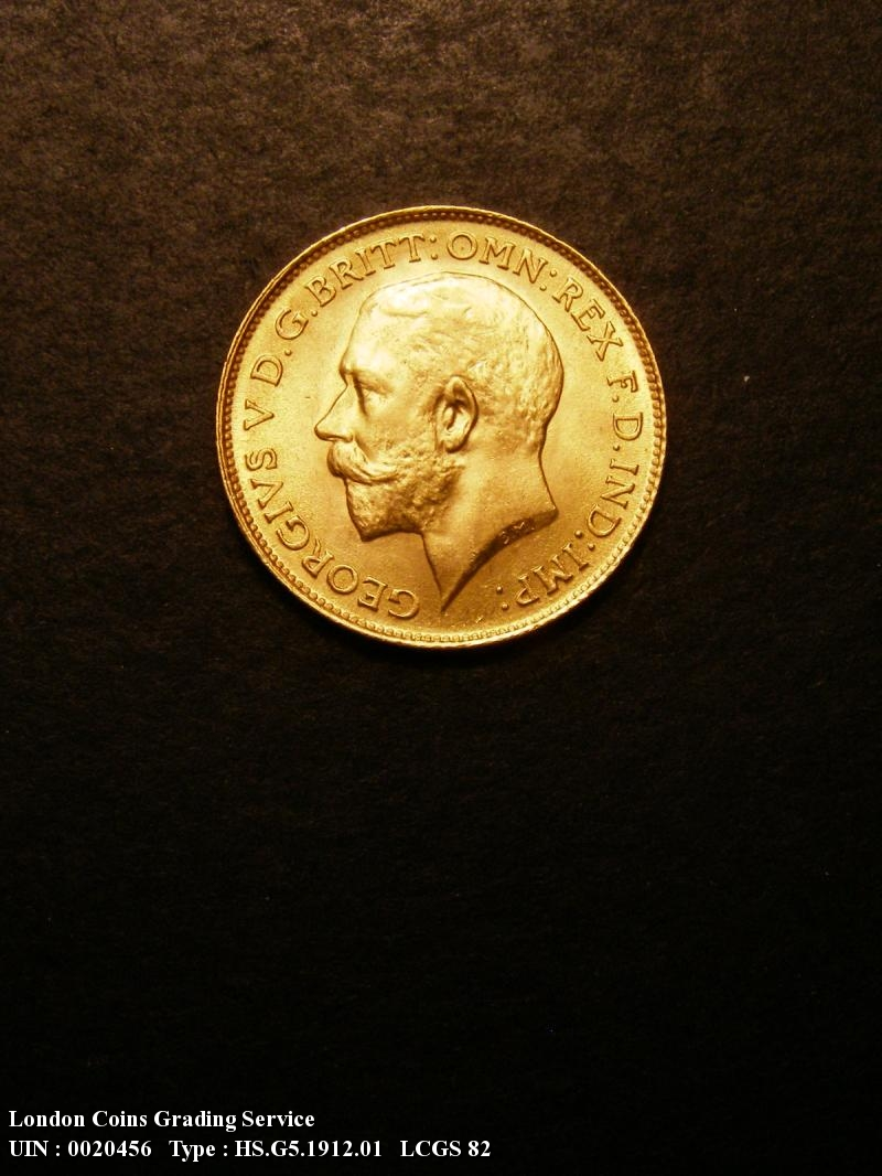 Gold ½ Sovereign 1912 George V. London - Obverse
