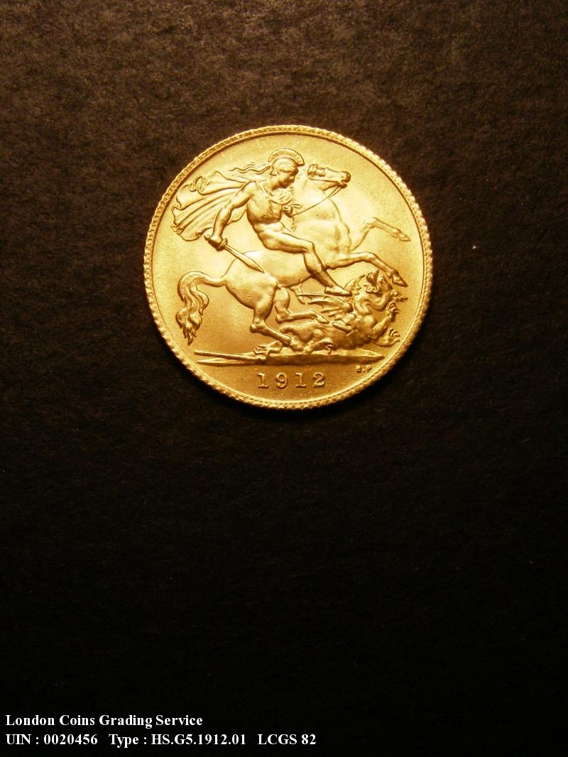 Gold ½ Sovereign 1912 George V. London - Reverse