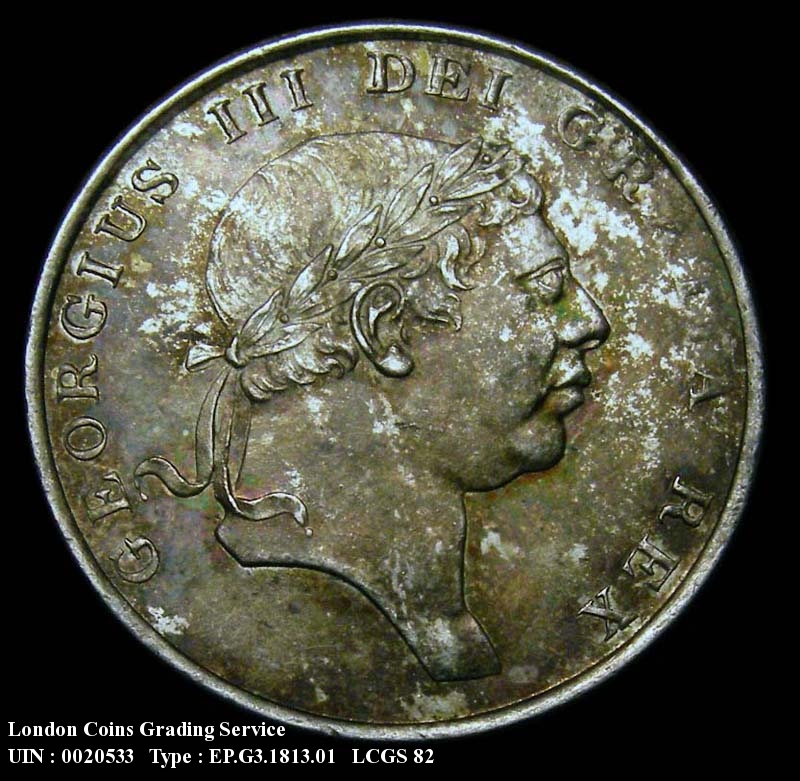 Bank Token 1/6 1813 George III. - Obverse
