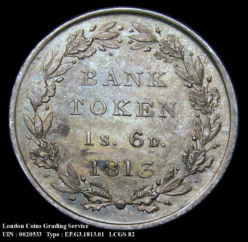 Bank Token 1/6 1813 George III. - Reverse
