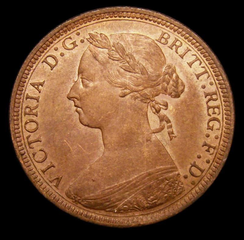 Halfpenny 1888 Victoria. Dies 17+S - Obverse