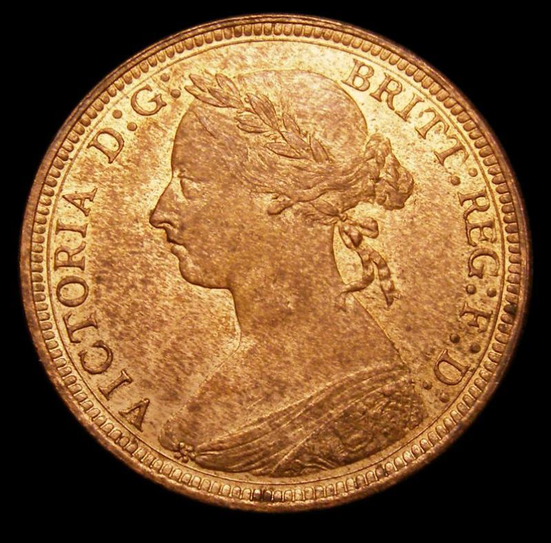 Halfpenny 1891 Victoria. Dies 17+S - Obverse