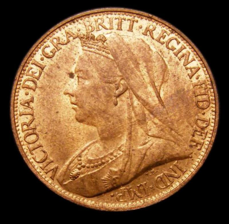 Farthing 1896 Victoria. Dies 1+A - Obverse