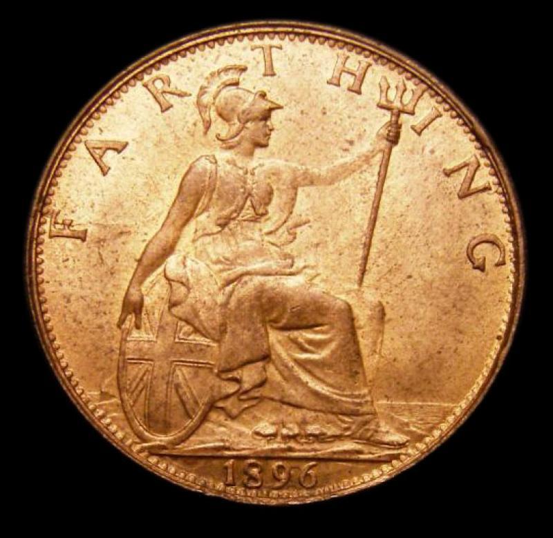 Farthing 1896 Victoria. Dies 1+A - Reverse