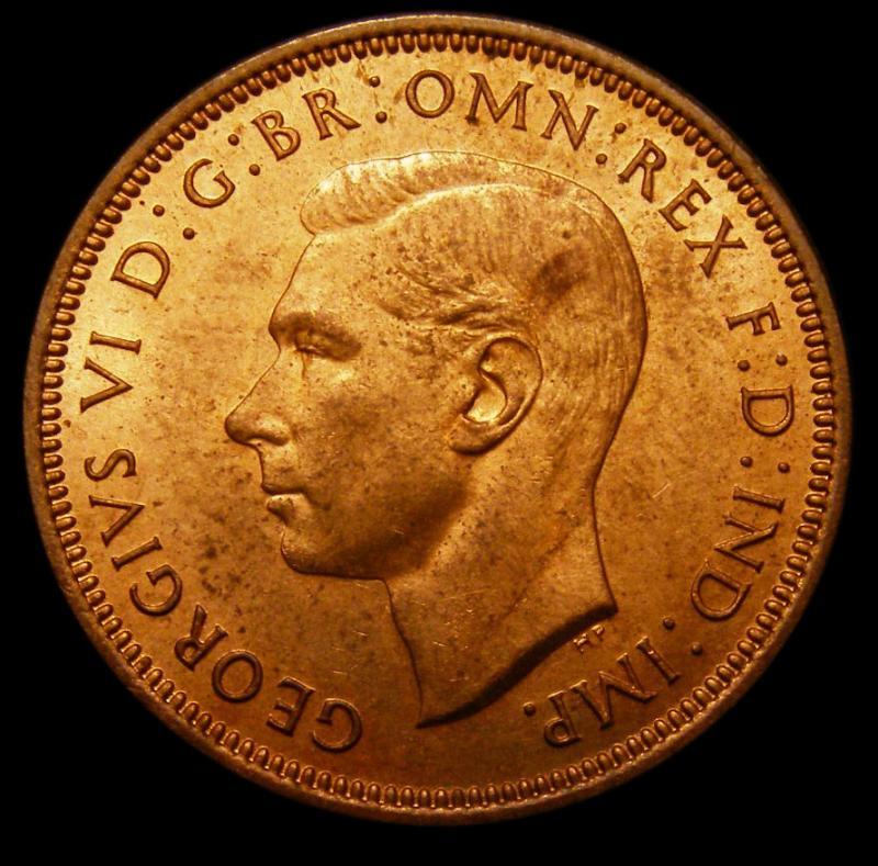 Halfpenny 1937 George VI. dies 1+A - Obverse