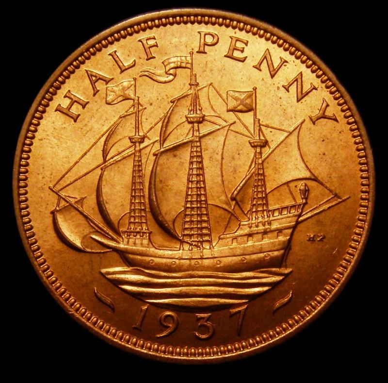 Halfpenny 1937 George VI. dies 1+A - Reverse