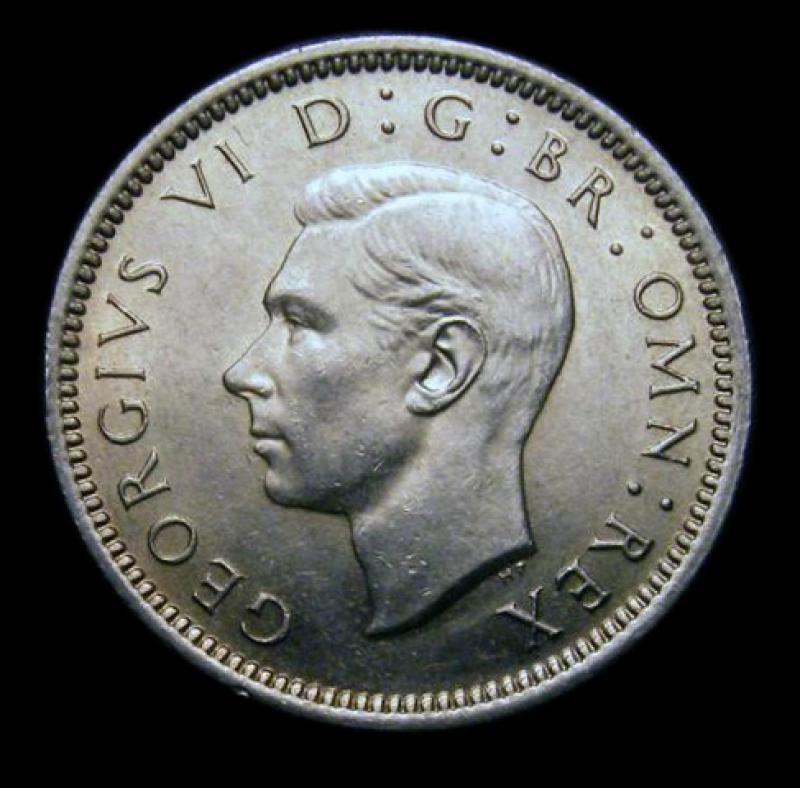 Sixpence 1948 George VI. - Obverse