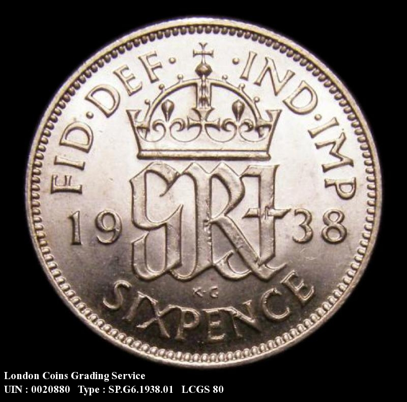 Sixpence 1938 George VI. Standard type - Reverse