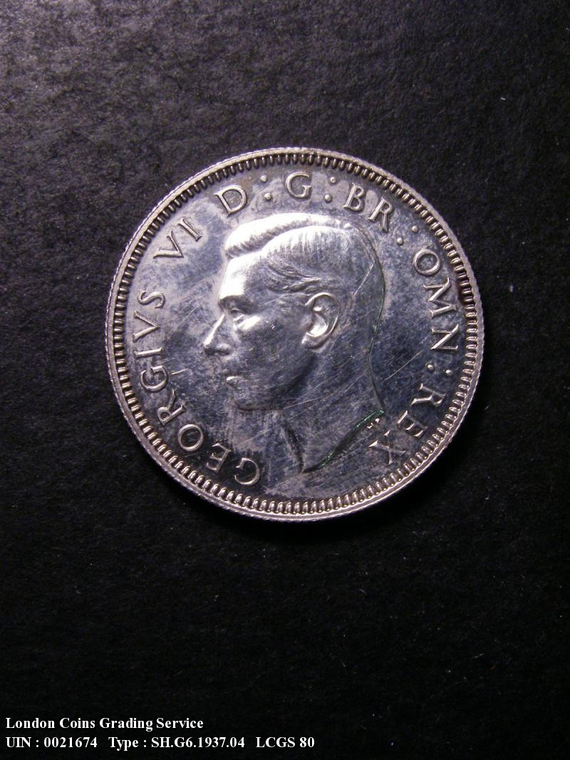 Shilling 1937 George VI. Scottish Proof - Obverse