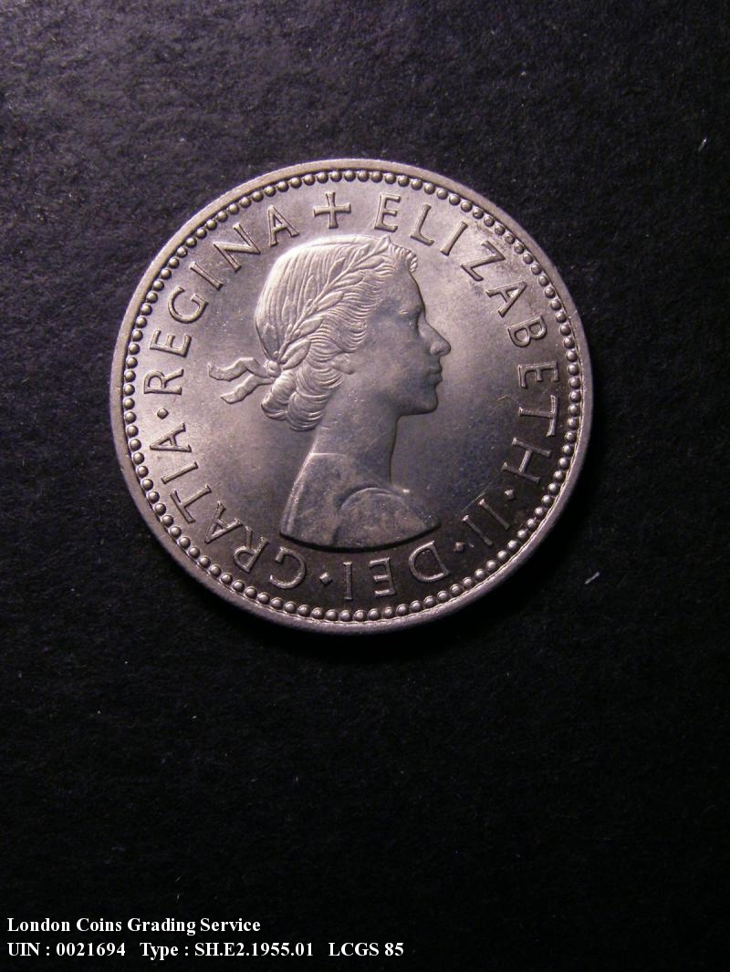 Shilling 1955 Elizabeth II. English. Dies 1B Larger (standard) design. - Obverse