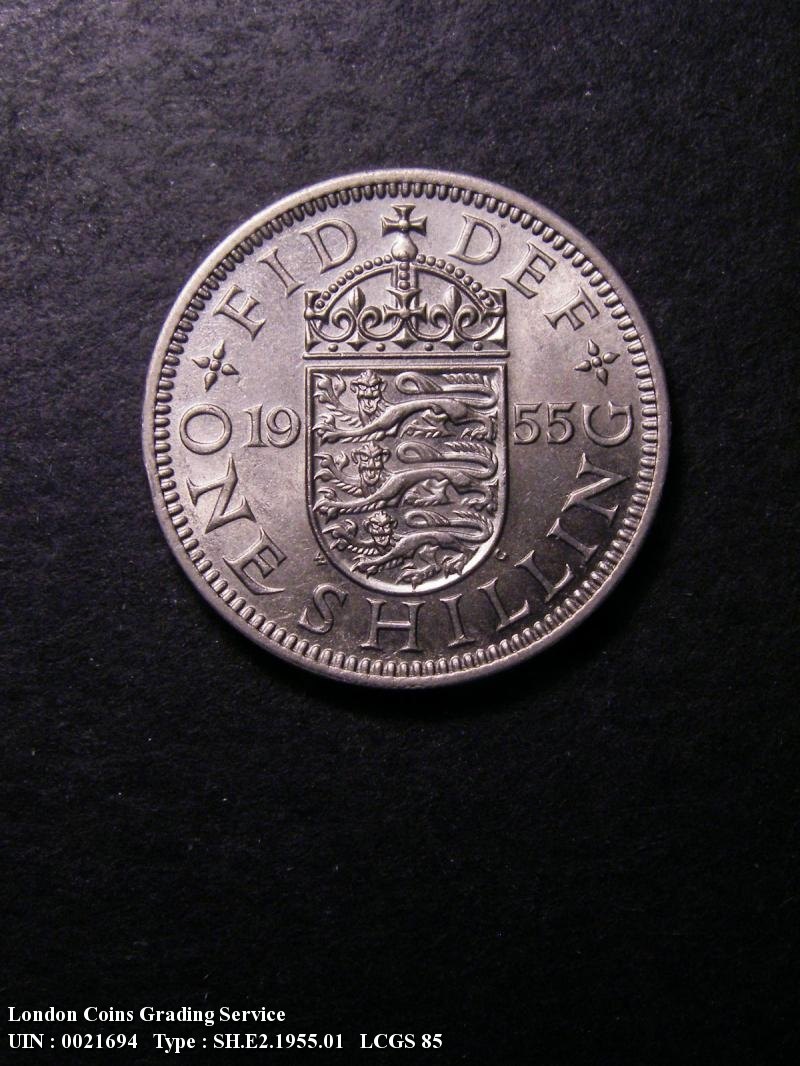 Shilling 1955 Elizabeth II. English. Dies 1B Larger (standard) design. - Reverse