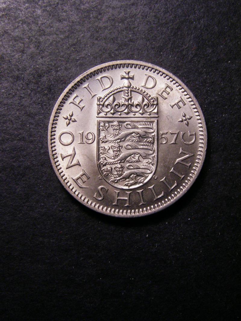 Shilling 1957 Elizabeth II. English - Reverse