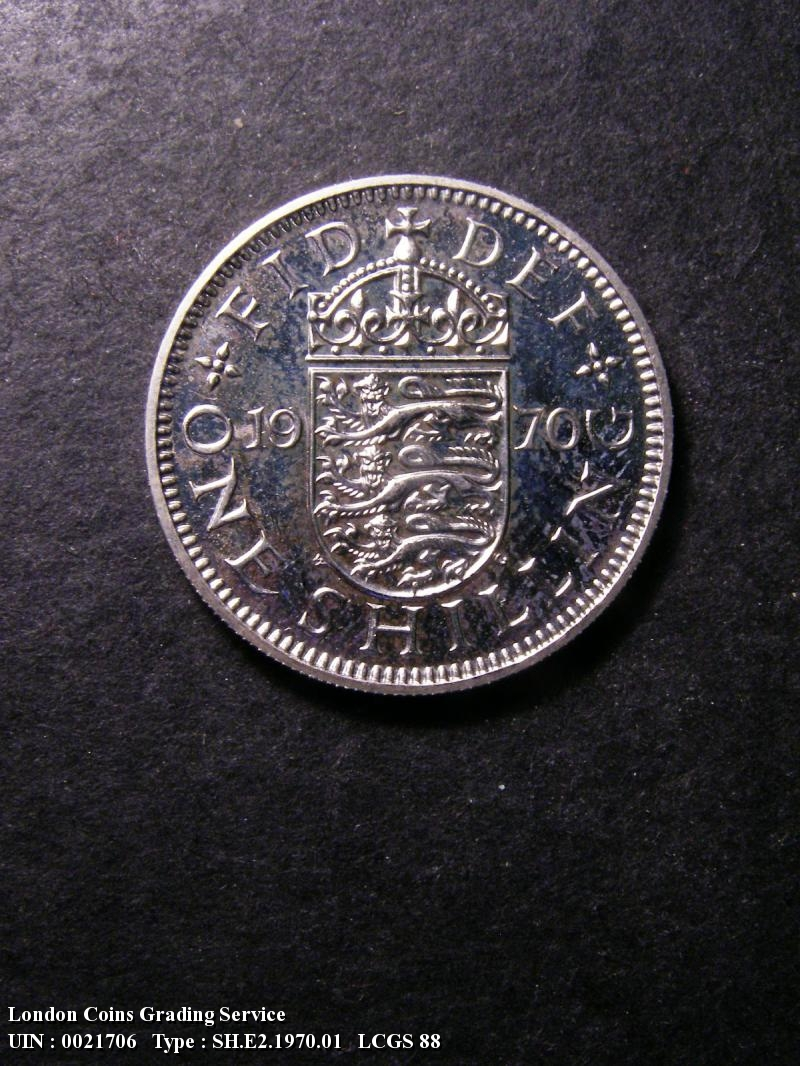 Shilling 1970 Elizabeth II. English Proof - Reverse