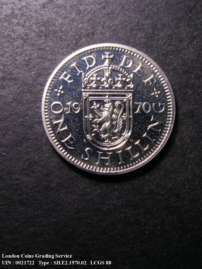 Shilling 1970 Elizabeth II. Scottish Proof - Reverse