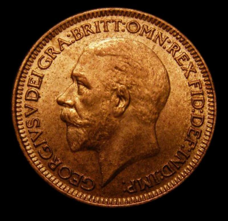 Farthing 1932 George V. Dies 3+B - Obverse