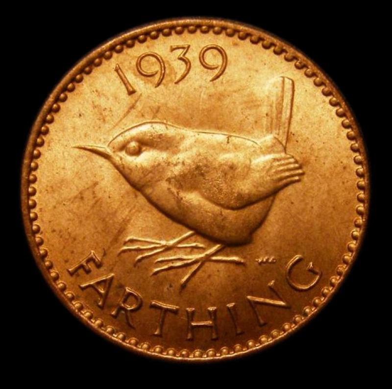Farthing 1939 George VI. Dies 1+A. - Reverse