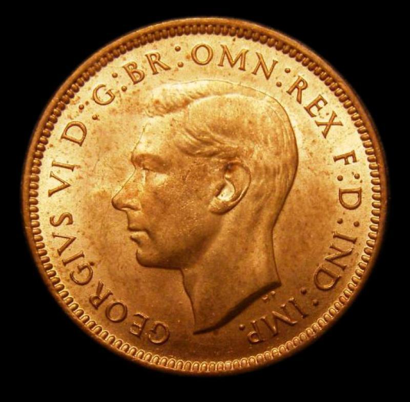 Farthing 1942 George VI. Dies 1+A - Obverse