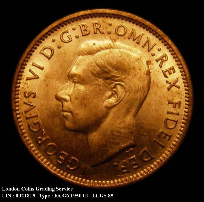 Farthing 1950 George VI. Dies 2+A - Obverse