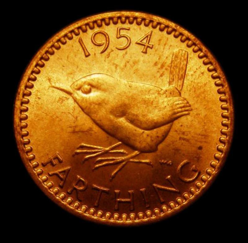 Farthing 1954 Elizabeth II. Dies 3+C - Reverse