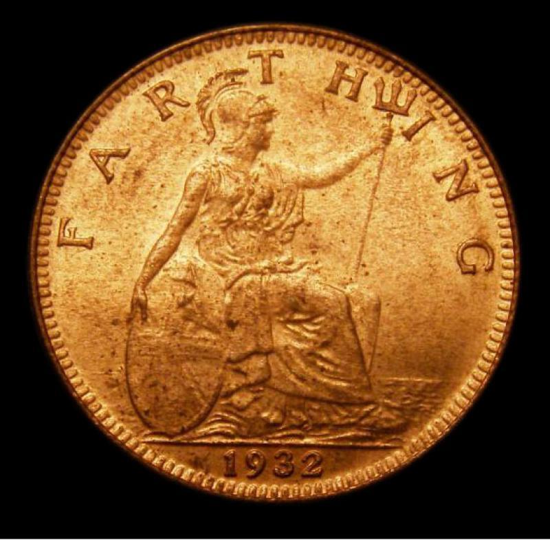 Farthing 1932 George V. Dies 3+B - Reverse