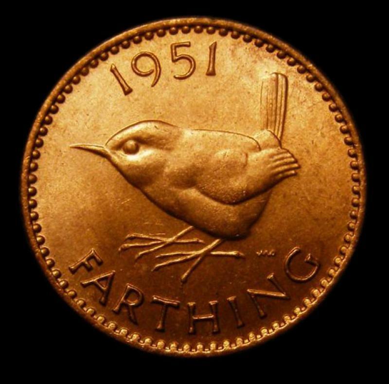 Farthing 1951 George VI. Dies 2+A - Reverse