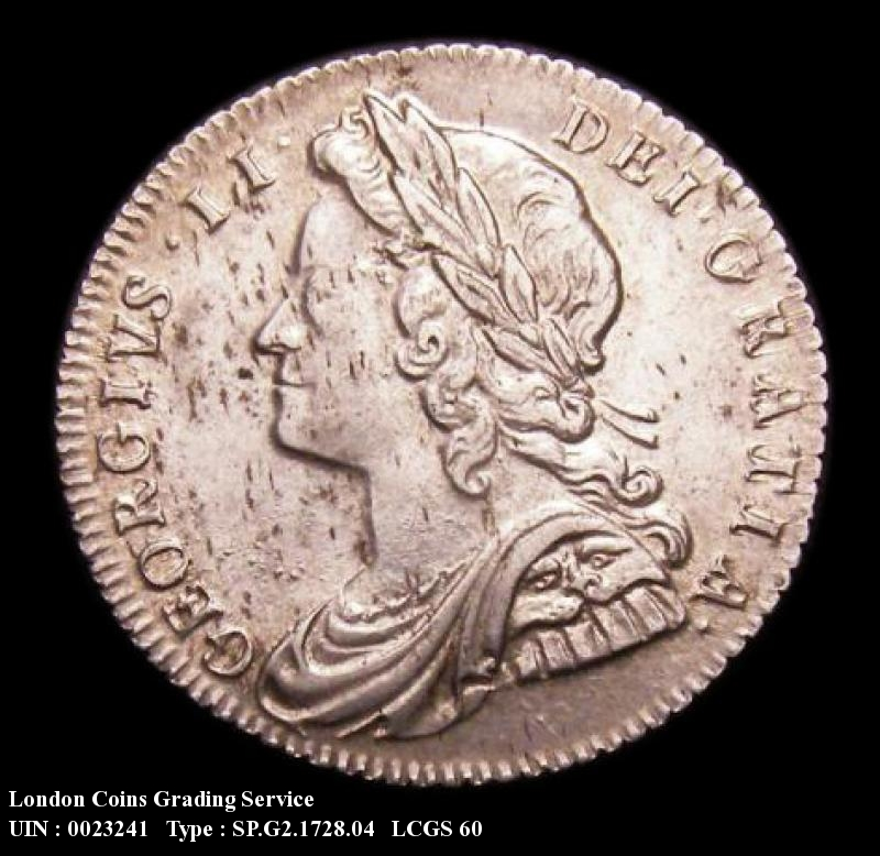Sixpence 1728 George II. Roses and Plumes - Obverse