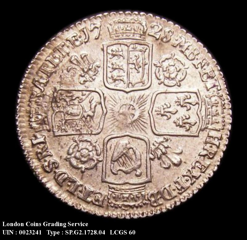 Sixpence 1728 George II. Roses and Plumes - Reverse
