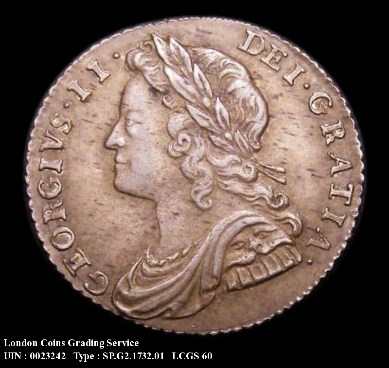 Sixpence 1732 George II. Roses and Plumes - Obverse
