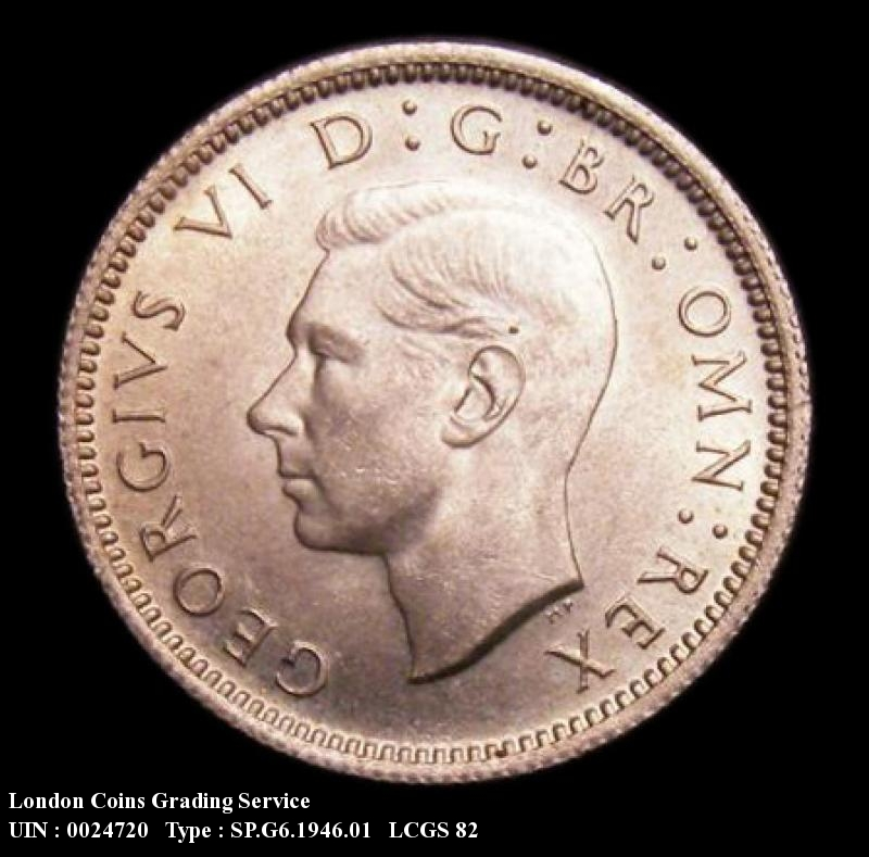 Sixpence 1946 George VI. Standard type - Obverse