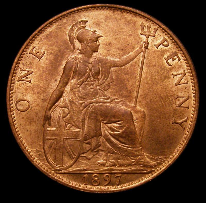 Penny 1897 Victoria. Dies 1+B - Reverse