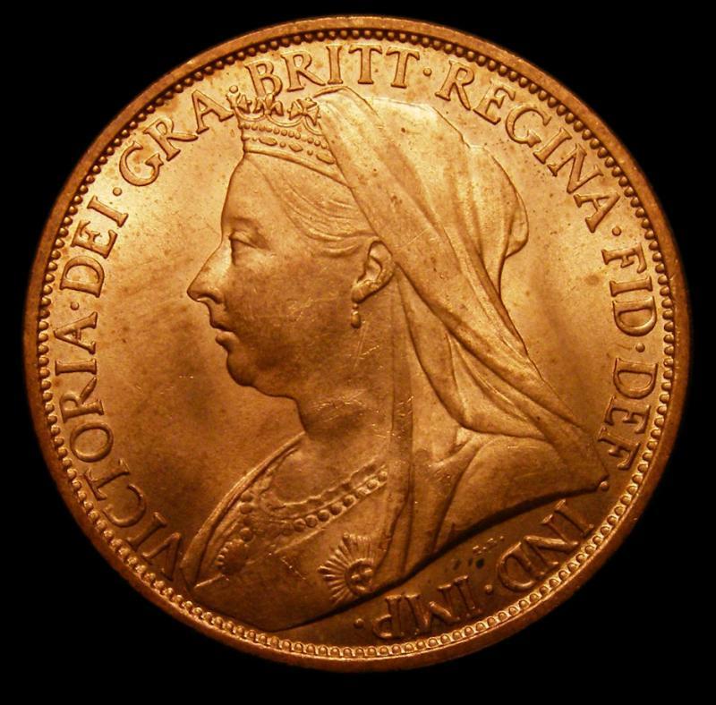 Penny 1897 Victoria. Dies 1+B - Obverse