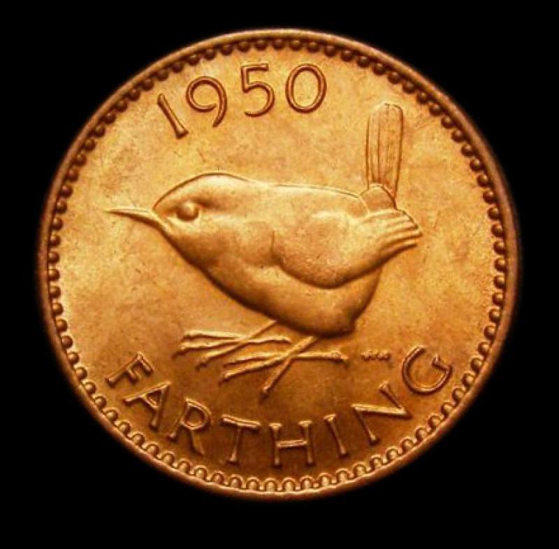 Farthing 1950 George VI. Dies 2+A - Reverse