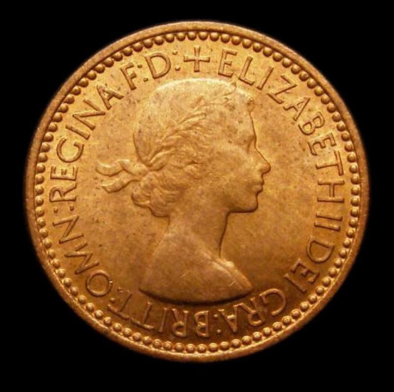 Farthing 1953 Elizabeth II. Dies 2+B - Obverse