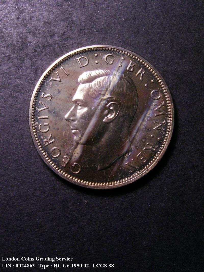 Halfcrown 1950 George VI. Proof - Obverse