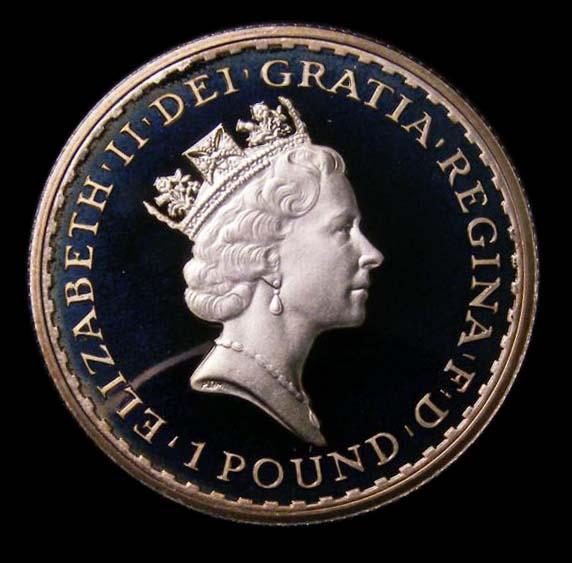 Britannia Silver £1 1997 Elizabeth II. Proof - Obverse