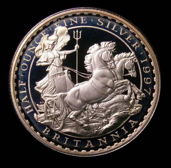 Britannia Silver £1 1997 Elizabeth II. Proof - Reverse