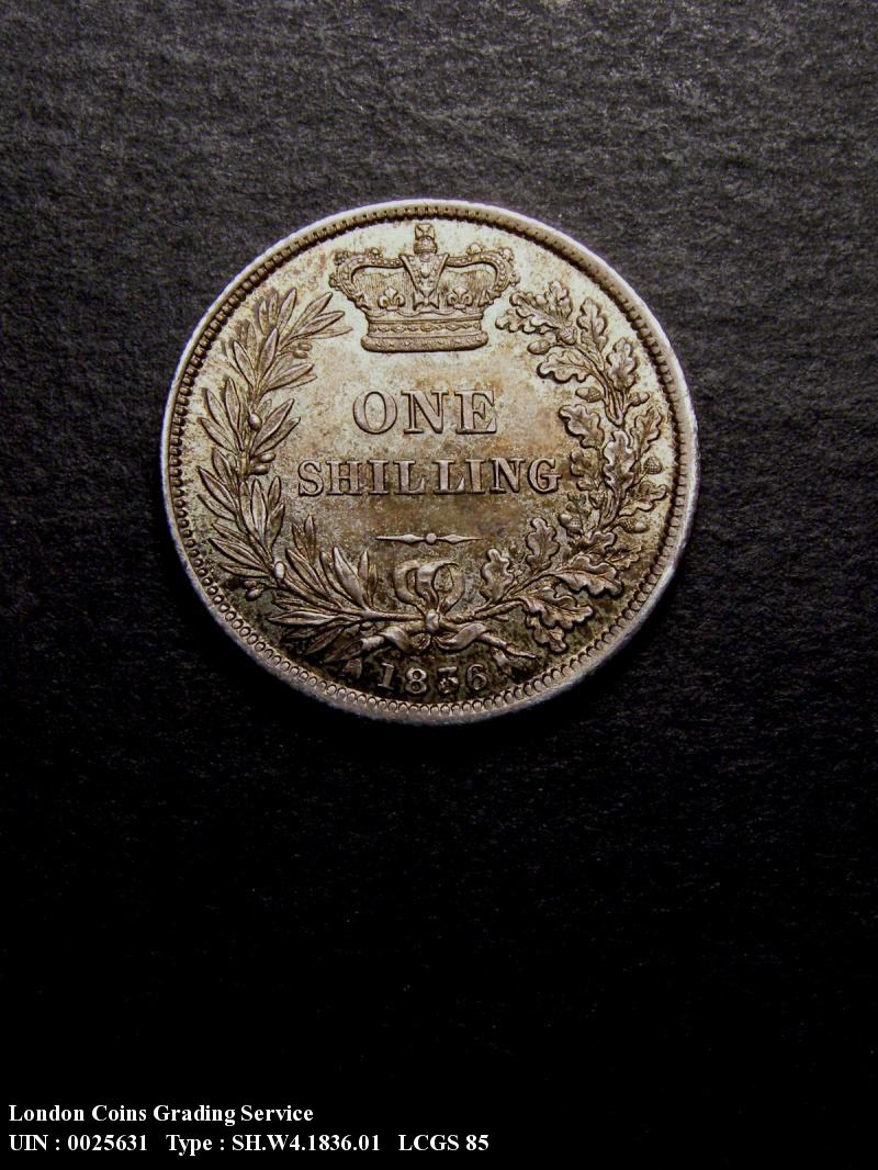Shilling 1836 William IV. Standard type - Reverse