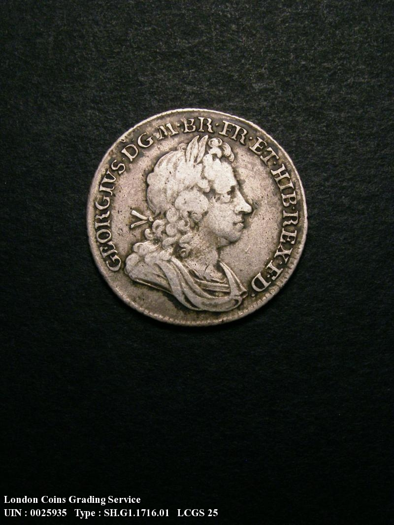 Shilling 1716 George I. Roses and Plumes - Obverse