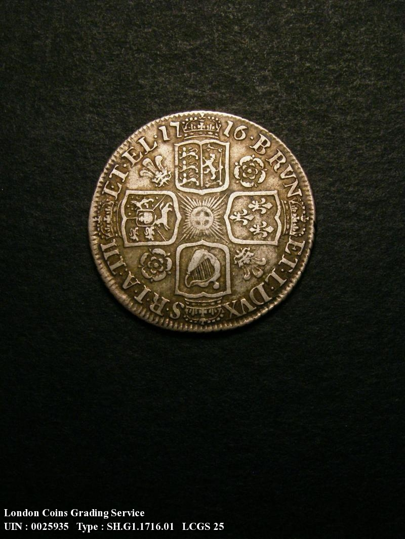 Shilling 1716 George I. Roses and Plumes - Reverse