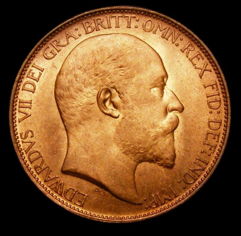 Halfpenny 1905 Edward VII. Dies 1+B - Obverse