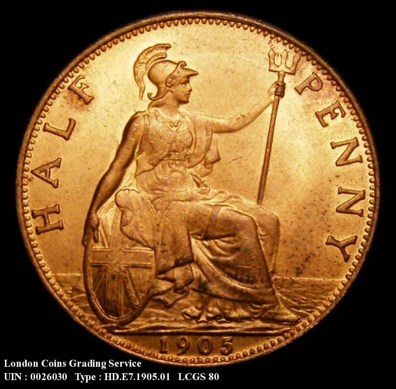 Halfpenny 1905 Edward VII. Dies 1+B - Reverse