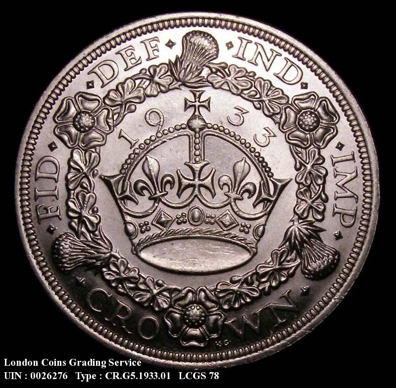 Crown 1933 George V. Standard type - Reverse