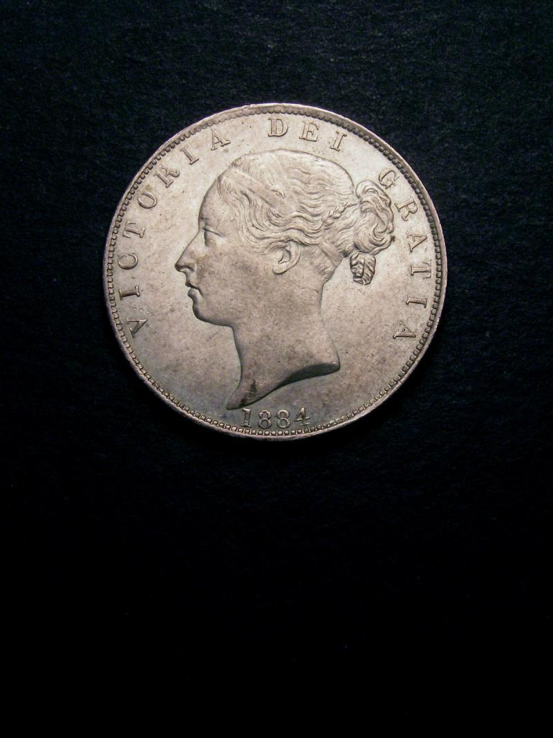 Halfcrown 1884 Victoria. Standard type - Obverse
