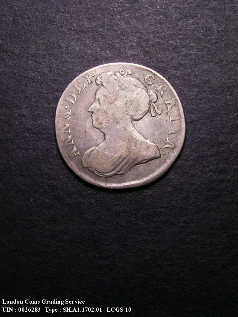 Shilling 1702 Anne. First Bust - Obverse