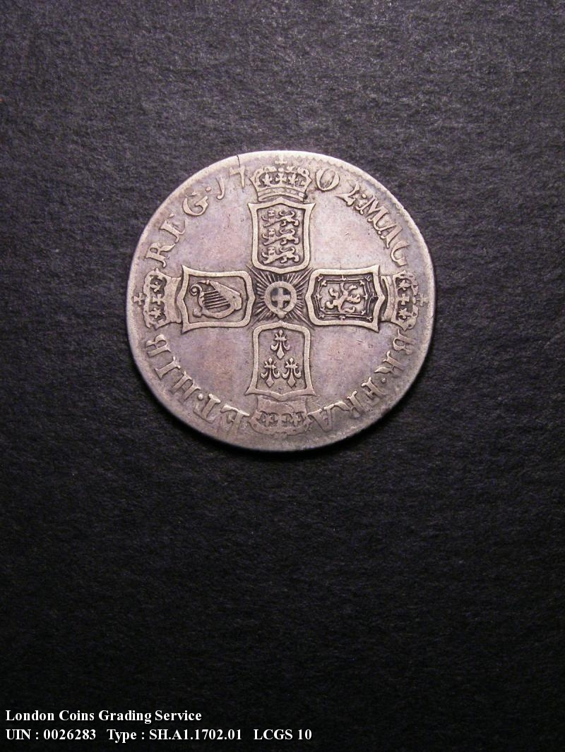 Shilling 1702 Anne. First Bust - Reverse