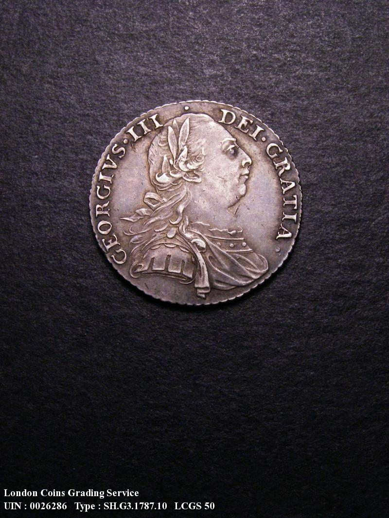 Shilling 1787 George III. Hearts - Obverse