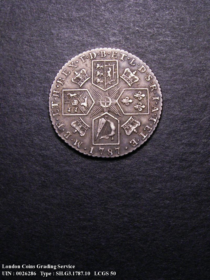 Shilling 1787 George III. Hearts - Reverse