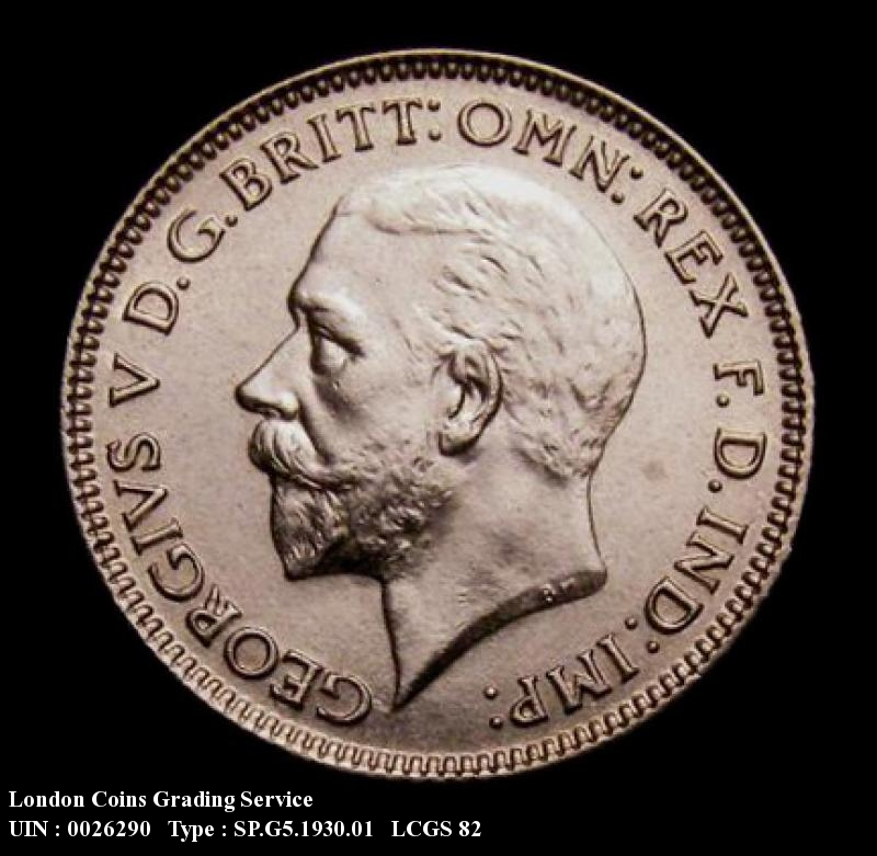 Sixpence 1930 George V. Standard type - Obverse