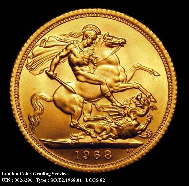 Gold Sovereign 1968 Elizabeth II. Standard type - Reverse